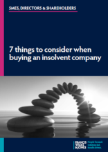 7 things to consider when buying an insolvent company