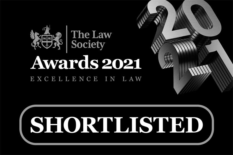 Law Society Awards 2021 - Shortlisted